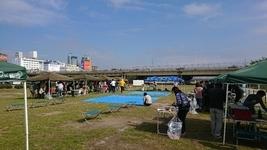平日 団体 大爆笑 催し 二人羽織 大阪 西中島 河川敷 公園