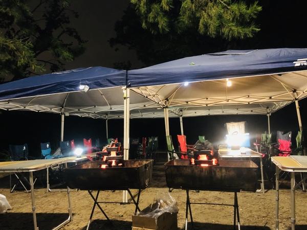 服部緑地公園夜バーベキュー